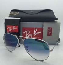 Ray-Ban Sunglasses RB 3025 LARGE METAL 003/3F 62-14 Silver Aviator w/Blue+Mirror
