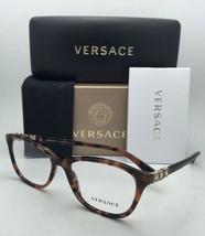 New VERSACE Eyeglasses 3213-B 944 54-17 140 Havana Tortoise Frames w/ Crystals