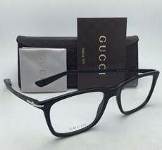 New GUCCI Eyeglasses GG 1105 263 53-18 Black & Matte Black Frames w/ Clear Lens