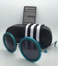 New VONZIPPER Sunglasses VZ FLING Round Blue Transp Charcoal Frame w/Grey Lenses