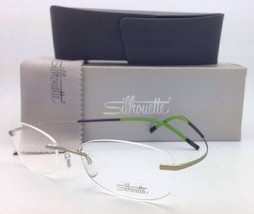 New! SILHOUETTE Rimless Eyeglasses TITAN MINIMAL ART 7581 6637 6053-Gree... - $299.95