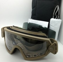 New SMITH OPTICS OUTSIDE THE WIRE Goggles Field Kit Tan w/ Clear & Grey lenses