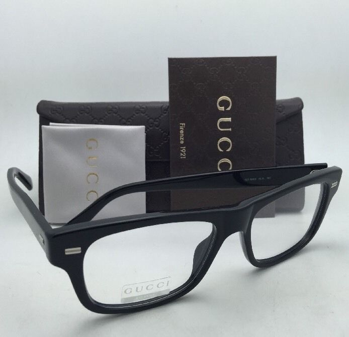 376b6fcce5 S l1600. S l1600. New GUCCI Rx-able Eyeglasses GG 1080 04UA 53-17 Black Frame  w  · New GUCCI Rx-able ...