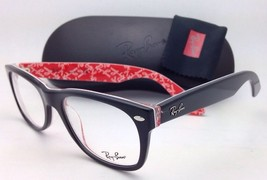 New RAY-BAN Rx-able Eyeglasses RB 5184 2479 52-18 Black on Texture Red Frames