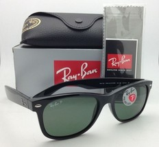 New Ray-Ban Sunglasses NEW WAYFARER RB 2132 901/58 52-18 Black w/Green Polarized