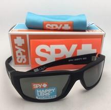 Polarized SPY OPTIC Sunglasses DIRTY MO Soft Matte Black Frame w/Grey-Green Lens
