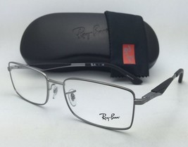 New RAY-BAN Rx-able Eyeglasses RB 6284 2502 53-17 Silver Frames with Demo Lenses
