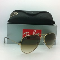 Ray-Ban Aviator Sunglasses RB 3025 Large Metal 001/51 62-14 Gold with Brown Fade