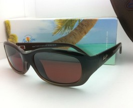 MAUI JIM Polarized Sunglasses PUNCHBOWL MJ 219-01 Chocolate Frames w/Ros... - $219.95