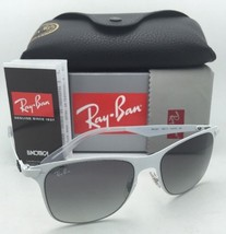 New Ray-Ban Sunglasses RB 3521 163/11 52-18 White Frames w/ Grey Gradient Lenses