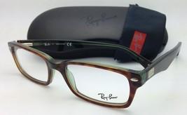 RAY-BAN Rx-able Eyeglasses/Frames HIGHSTREET RB 5206 2445 54-18 Havana on Green