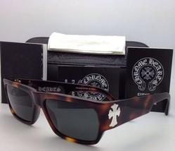 Authentic CHROME HEARTS Sunglasses BJORN AGAIN Butterscotch Tortoise w/Grey lens
