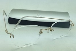 New KAZUO KAWASAKI Eyeglasses MP 631 08 AD/48 Rimless Titanium Matte Gold Frames