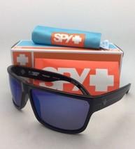 Polarized SPY OPTIC Sunglasses ROCKY Shiny Black Frame w/Bronze Lens+Blue Mirror - $149.95