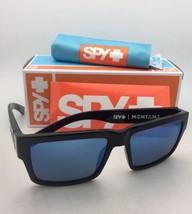 Polarized SPY OPTIC Sunglasses MONTANA Black Frame w/Grey-Green Lens+Blue Mirror