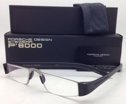 New Reader! PORSCHE DESIGN Eyeglasses P'8801 A 48-20 +1.00 Silver Black Readers
