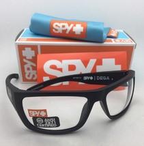 New SPY OPTIC Safety Sunglasses DEGA Matte Black Frame w/ANSI Z87.1 Clear Lenses