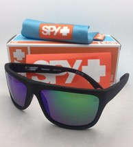 Polarized SPY OPTIC Sunglasses ANGLER Matte Black Frame w/ Bronze+Green Mirror