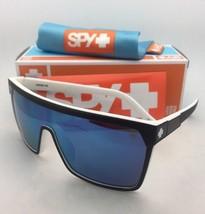 New SPY OPTIC Sunglasses FLYNN WhiteWall Matte Black on White Frame+Blue Mirror - $149.95