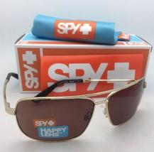 New SPY OPTIC Sunglasses LEO Gold Aviator Frame w/ Happy Bronze Lenses