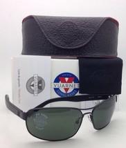 New VUARNET Sunglasses VL 1117 0001 Matte Black Frame w/ Green PX 3000 Lenses