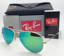 Ray-Ban Sunglasses RB 3025 Large Metal 112/19 55-14 Gold w/ Multi-Green Mirror