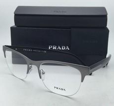 New PRADA Eyeglasses VPR 54R DHG-1O1 53-19 Black & Matte Brushed Gunmeta... - $274.95