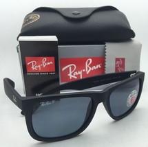 Polarized RAY-BAN Sunglasses JUSTIN RB 4165 622/2V Black Rubber w/ Blue Lenses