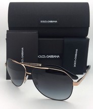 06d3fb8de9e0a DOLCE   GABBANA Sunglasses DG 2144 1296 8G 61-12 Black-Gold Aviator