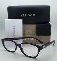 New VERSACE Eyeglasses VE 3189-B 5066 54-15 140 Violet Purple Frame w/ Crystals