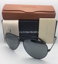 Oliver Peoples Sunglasses Sayer Ov 1201S 5062/6G Matte Black Aviator w/ Mirror - $429.99