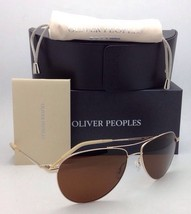 Polarized OLIVER PEOPLES Sunglasses BENEDICT OV 1002 5035/N6 Gold w/Brown Lenses