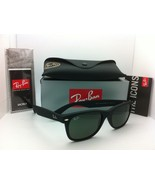 New Ray-Ban Sunglasses RB 2132 NEW WAYFARER 622 55-18 Black rubber w/G15... - $139.95