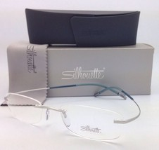 New SILHOUETTE Rimless Eyeglasses TITAN MINIMAL ART 7581 7771 6060 Grey ... - $299.95