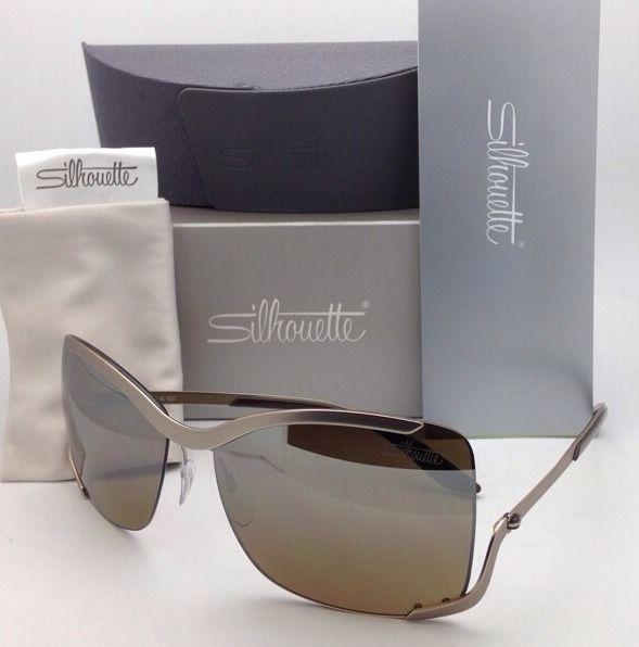 SILHOUETTE Sunglasses 8140 40 6221 Matte Cream Frames w/Brown Gradient Lenses