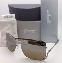 SILHOUETTE Sunglasses 8140 40 6221 Matte Cream Frames w/Brown Gradient L... - $309.99