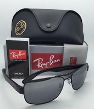 New Ray-Ban Polarized Sunglasses RB 3522 006/82 64-17 Matte Black Aviator w/Grey