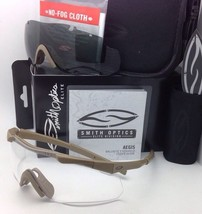 New SMITH OPTICS AEGIS ARC EyeShield Field Kit Tan 499 with Clear & Grey Lenses