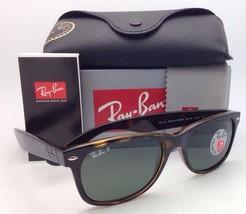 Polarized RAY-BAN Sunglasses RB 2132 902/58 NEW WAYFARER 55-18 Havana w/ Green