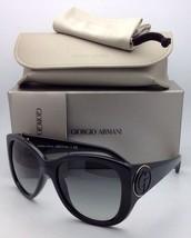 New GIORGIO ARMANI Sunglasses GA 8031 5017/11 57-17 Black Frame w/ Gray ... - $329.95