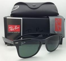 New RAY-BAN Tech Series Sunglasses RB 4195 601/71 52-20 Black w/ Green lenses