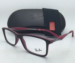 New RAY-BAN Rx-able Eyeglasses/Frames RB 7023 5259 Matte Black on Burgundy-Red
