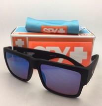 New SPY OPTIC Sunglasses CYRUS Soft Matte Black Frame w/ Bronze Lens+Blue Mirror - $109.95
