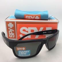 Polarized SPY OPTIC Sunglasses FRAZIER Shiny Black Frame w/Happy Grey-Green Lens