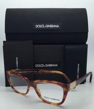 New DOLCE & GABBANA Eyeglasses DG 3171 706 52-18 Havana Frame w/ Clear Demo Lens