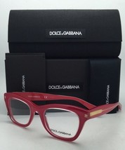 New DOLCE & GABBANA Eyeglasses DG 3177 2775 Clear on Pink-Coral w/ Clear Demo