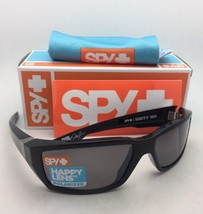 Polarized SPY OPTIC Sunglasses DIRTY MO Shiny Black Frame w/ Happy Bronze+Mirror