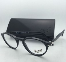 New PERSOL Rx-able Eyeglasses 3092-V 9014 48-19 Black Frames w/ Clear Lenses