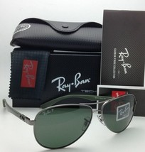 RAY-BAN POLARIZED Sunglasses TECH SERIES RB 8313 004/N5 61-13 Gunmetal w/ Grey