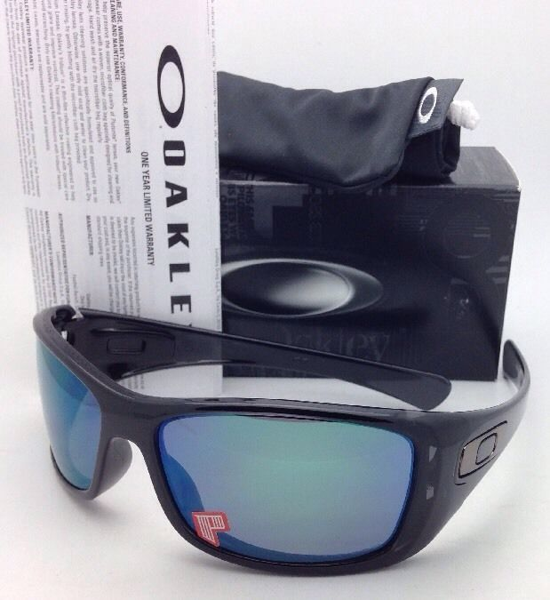 178d96c7e0 New OAKLEY POLARIZED Sunglasses HIJINX OO9021-05 64-15 Black Ink w  Jade  Iridium